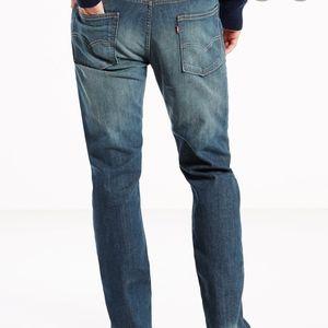 Mens Levi's 513 slim straight jeans